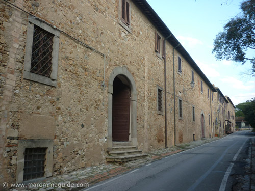 The town of Bolgheri in Tuscany