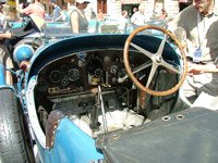 Inside of a Bugatti car