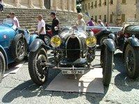 Black Bugatti car