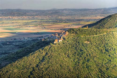 The village of Buriano in Maremma Italy