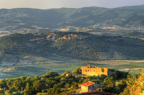 Beautiful Landscape Pictures: Caldana viewed from Vetulonia in Maremma, Italy