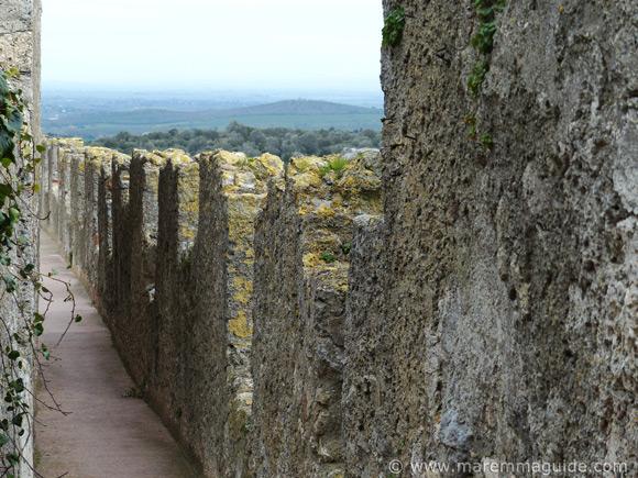 CapalbioItaly: the cammina di ronda - chemin de ronde - wall walkway.