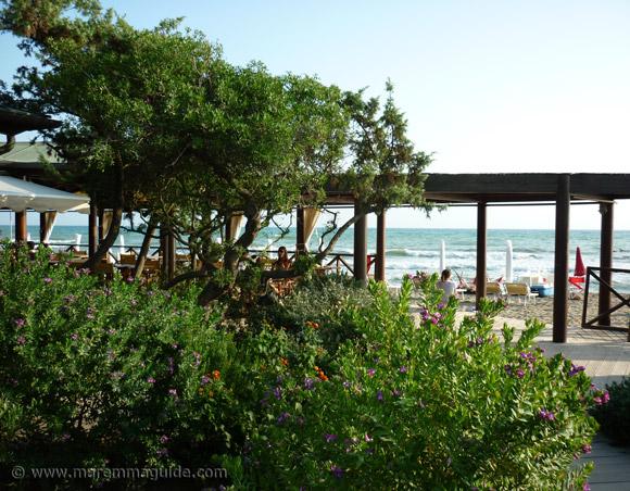Capezzole bar and restaurant in Castiglione della Pescaia Tuscany.