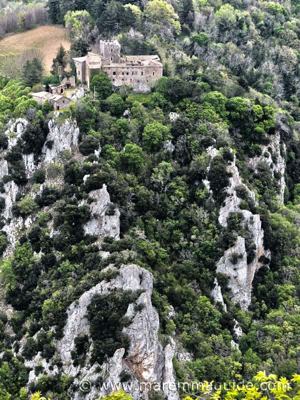Castello di Fosini in the Riserva Naturale delle Cornate e Fosini Maremma Tuscany