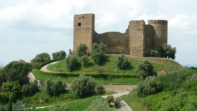 Castles from the middle ages: Rocca Pisana in Scarlino, Maremma Italy