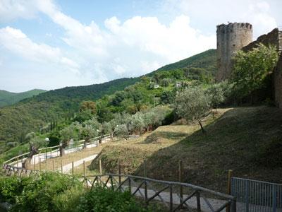 Castles in the middle ages: Castello di Scarlino in Maremma Italy