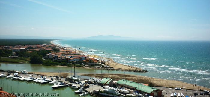 Castiglione della pescaia beach: Levante on the south side of town.