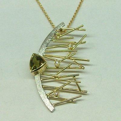 Chrysoberyl Necklace: Italian 18k Gold Jewelry from Stile di Pallanti