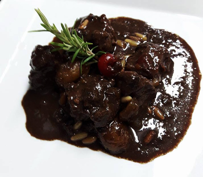 Tuscan wild boar stew with chocolate recipe: the real thing.