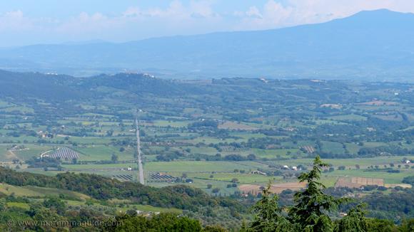 Civitella Marittima Tuscany from Roccastrada