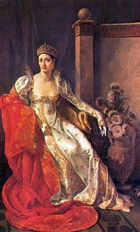 Elisa Bonaparte Baciocchi painted by Marie Guilhelmine Benoist