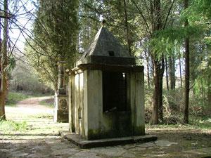 Elisa Bonaparte commemorative obelisk and old well at Montioni, Maremma