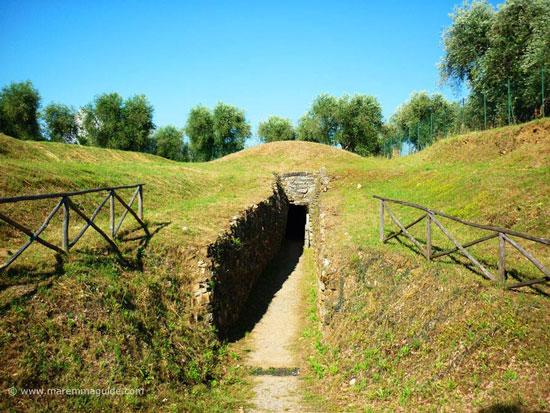 Etruscan tomb Vetulonia Tuscany