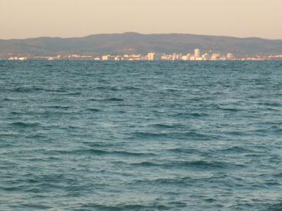 View of Follonica from Cala Barbiere, Punta Ala Maremma Tuscany Italy