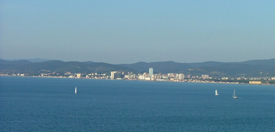 View of Follonica from the Cala Martina access track