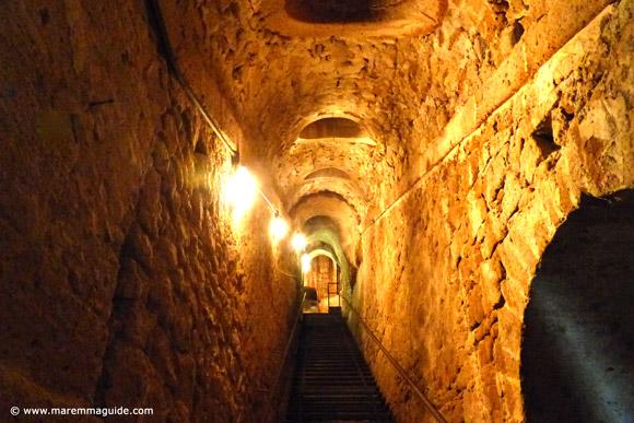 Orsini fortress underground passageways