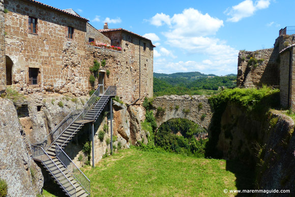 Fortezza Orsini castle and moat, Sorano Italy