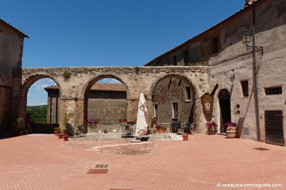Fortezza Orsini castle courtyard Sorano Maremma