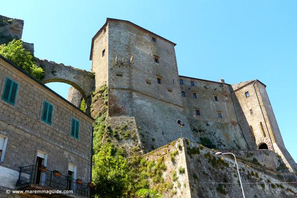 Fortezza Orsini castle Maremma Tuscany