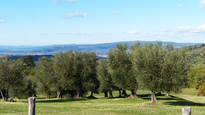 House for sale in Tuscany: the view over the Val del Conca d'Oro