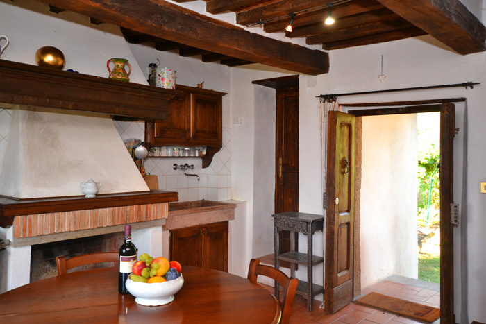 Podere Peroporcino kitchen.