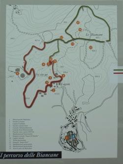 Parco delle Biancane trekking route