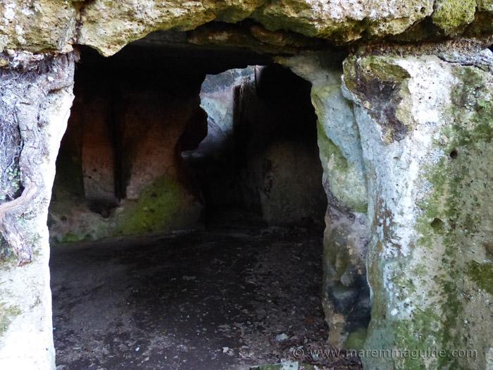 Cave dwelling at Sorano Tuscany.