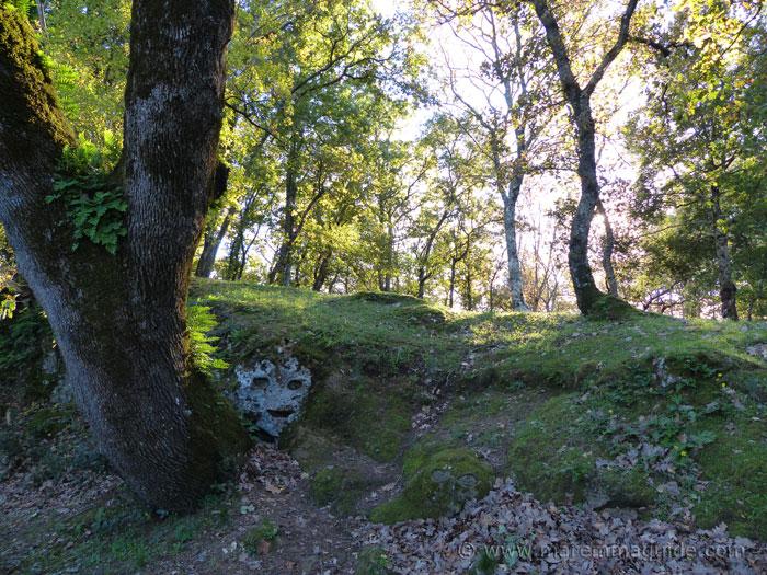 The face in the rock at the insediamento rupestre di San Rocco Sorano