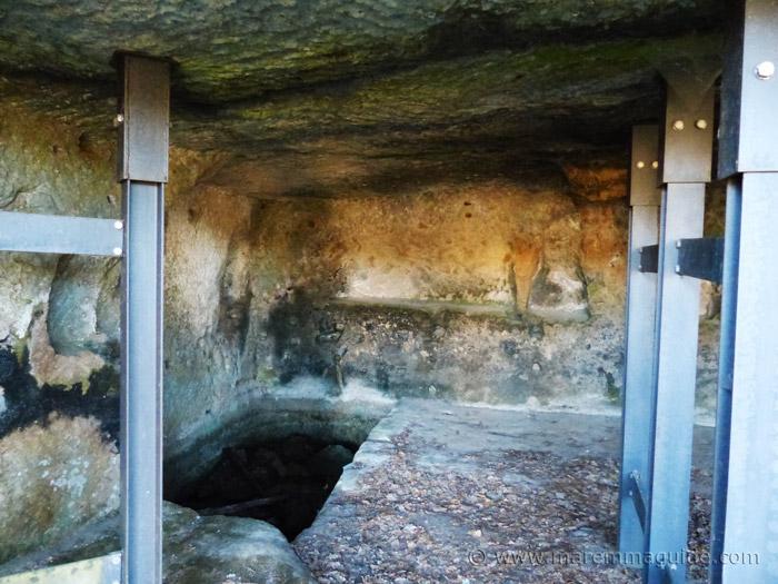 Inside the insediamento rupestre di San Rocco.