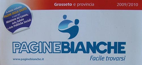 Italy Phone Directory: PagineBianche