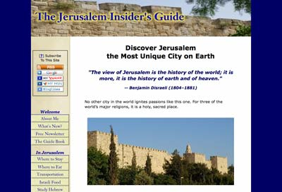 Free international travel guides: The Jerusalem Insider's Travel Guide