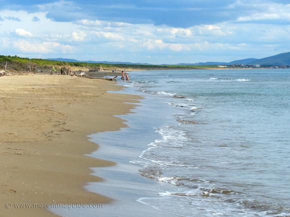 Le Marze beach in Grosseto Tuscany Italy in September