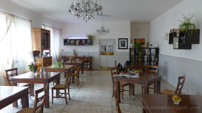 Locanda la Pieve dining room