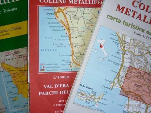 Maremma maps, Italy and Lazio