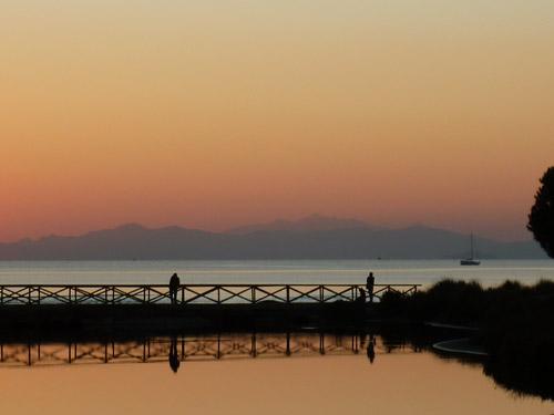 Maremma Tuscany Italy: Puntone di Scarlino sunset