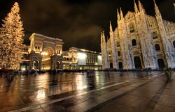 Milan in the rain