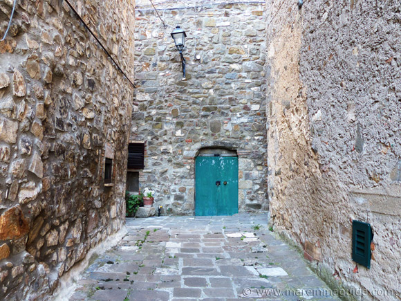 Street inside the historic centre of Montegiovi in Maremma.