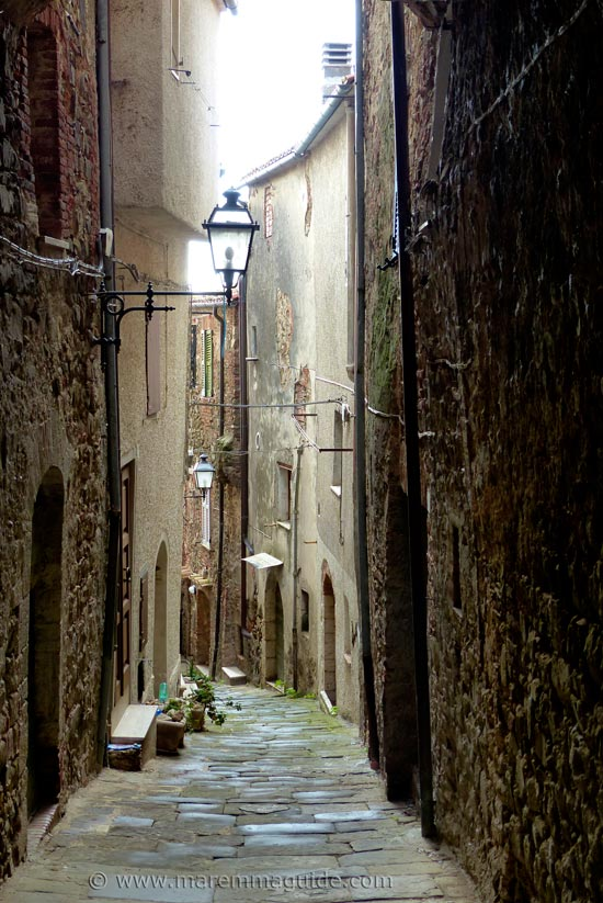 Medieval street in Montemerano Italy