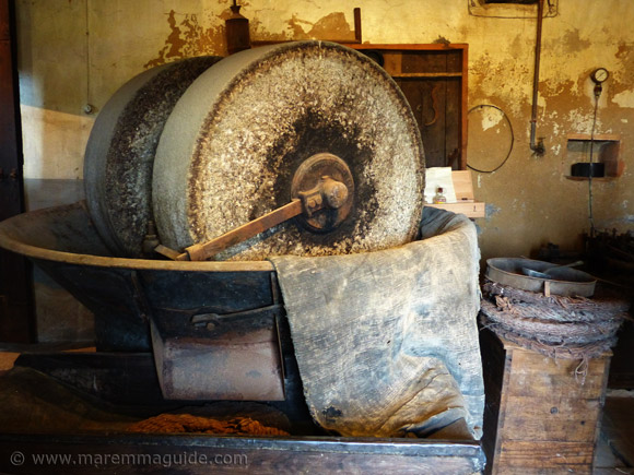 The olive oil museum in Seggiano Tuscany.
