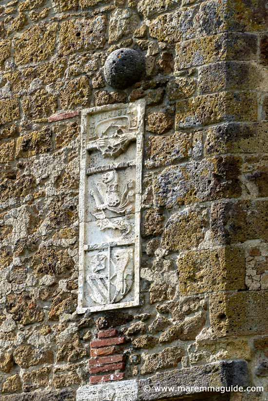 Orsini family coat of arms Sorano Italy