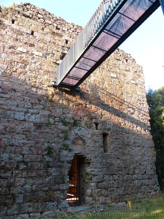 Pievaccia tower, Parco di Montioni: a fortified 13th century church of possible Templar origins.