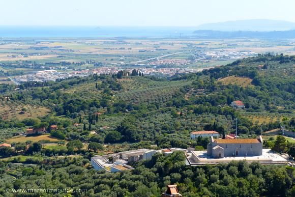 Pieve di San Giovanni as seen from Campiglia Marittima castle in Tuscany