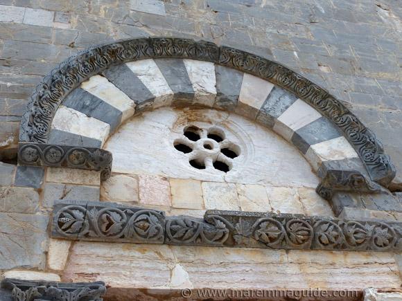 Pieve di San Giovanni front door lunette detail