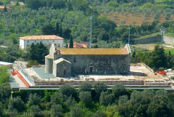 The Pieve di San Giovanni under restoration in 2010