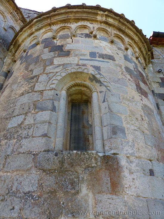 Right apse of Pieve di Santa Maria ad Lamulas Montelaterone