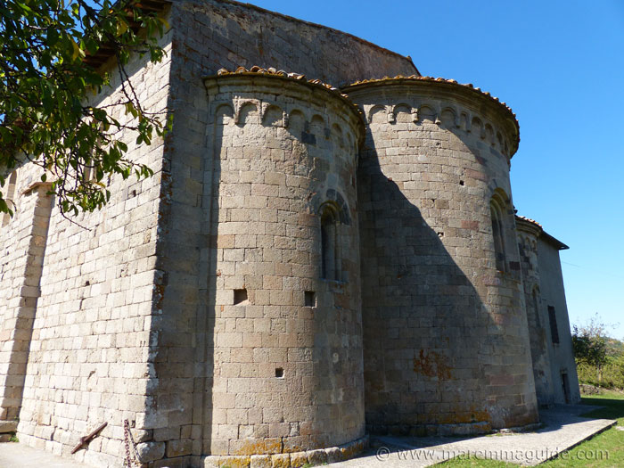 Pieve di Santa Maria ad Lamulas church: rear view of apse.