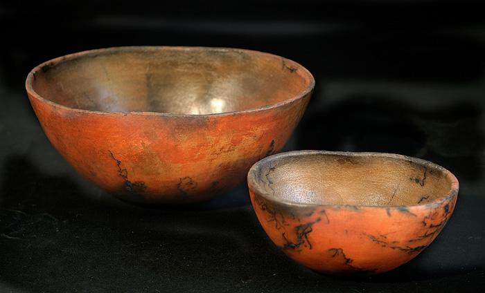 Ceramic pit fire technique.