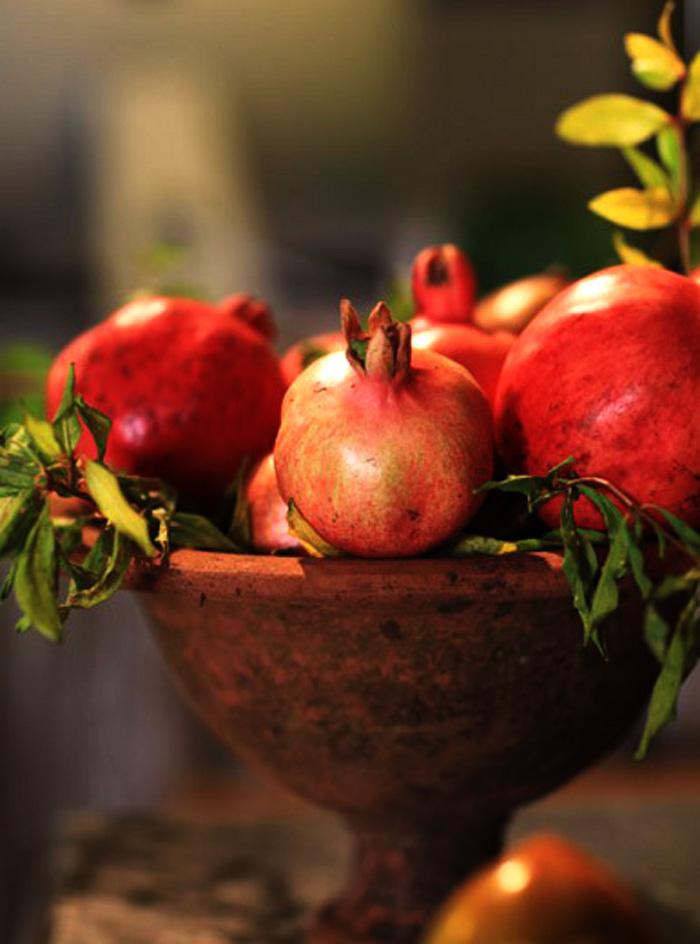 Pomegranates in Tuscany.