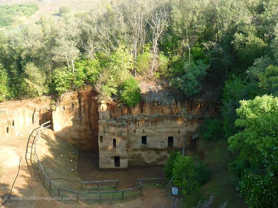 Populonia necropolis Le Grotte