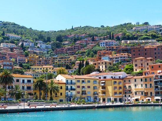 Beach town in Maremma: Porto Santo Stefano, Monte Argentario Tuscany Italy